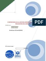 Rapport L'IMPORTANCE DE LA GESTION ADMINISTRATIVE DANS LA REALISATION DES OBJECTIFS.
