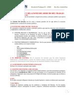 TEMA 2 FUENTES Y RELACIONES DEL DERECHO DEL TRABAJO