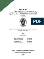Pence Mar An Air Oleh Logam Berat Cu, Ag, Hg, Pt, Au, Pb Dan Pence Mar An Udara Oleh Gas Sox