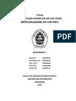 Pemeriksaan Parameter Air & Udara Mikroorganisme Air Dan Pm10