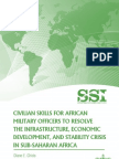 Civilian Skills for African Military Officers to Resolve the Infrastructure, Economic Development, and Stability Crisis in Sub-Saharan Africa