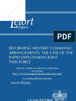 Reforming Military Command Arrangements