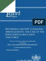 Reforming Military Command Arrangements