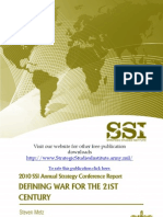 """2010 SSI Annual Strategy Conference Report """"Defining War for the 21st Century"""""""
