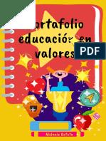 Portafolio digital de educación en valores