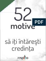 52 de Motive Sa Iti Intaresti Credinta