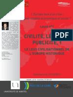 Jean-Marc Ferry 01.  Civilité, Légalité, Publicité, 1. Le legs civilisationnel de l'Europe historique