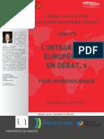 Jean-Marc Ferry 04.  L'intégration européenne en débat, 2. Pour un rééquilibrage