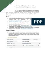 Requisitos y procedimiento para la Inscripción de títulos en el CIV