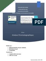 TP Analye Chromatographique