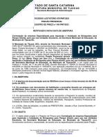 Processo Licitatório Nº 070.21 Pregão Presencial Registro de Preço Nº 041.PMT.21 - Parque Infantil - SE - RETIFICADO E NOVA DATA de ABERTURA