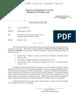 2011.03.23 Scheduling Memorandum