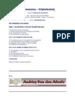 Freemasonry - Vrijmetselarij - Andries Van Den Abeele (Dutch)