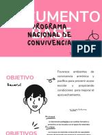 5 PROGRAMA NACIONAL DE CONVIVENCIA