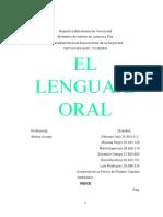 Trabajo de Lenguaje Oral