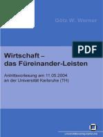 Gotz W. Werner - Wirtschaft - Das Fureinander-Leisten German - Libgen.lc