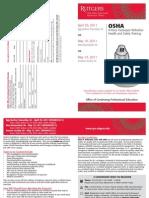 OSHA Hazardous Waste Operations Refresher Training Spring 2011