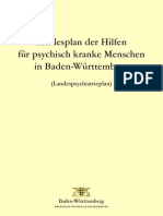 Landesplan 2018 Der Hilfen Fuer Psychisch Kranke Menschen in BW-Landespsychia..