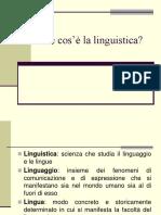 1- Che Cose La Linguistica PDF
