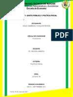 TALLER N°1. Gasto Público y Política Fiscal
