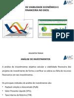 Análise de Viabilidade Econômica-Financeira no Excel