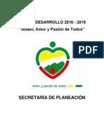 Plan de Desarrollo Amalfi 2016 2019