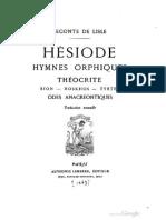 La Théogonie (Traduction Leconte de Lisle)