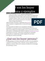 Qué Son Los Buyer Persona y Ejemplos