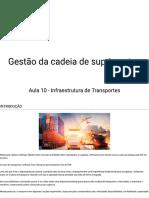 Aula 10 - Infraestrutura de Transportes