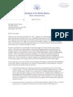 Speaker Boehner Letter to President Obama on Military Action in Libya