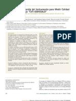 elaboracion y validacion del instrumento para medir calidad de vida
