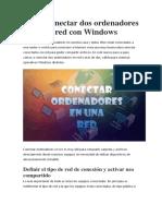 Como conectar dos ordenadores en red con Windows