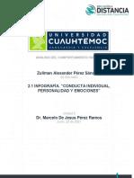 """2.1 INFOGRAFÍA. Zuliman Perez -CONDUCTA INDIVIDUAL, PERSONALIDAD Y EMOCIONES"""""""