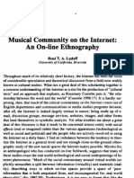 Lysloff - Musical Community on the Internet - An On-Line Ethnography