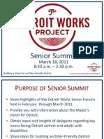 Detroit Works Project 03/17/2011 Senior Summit Presentation