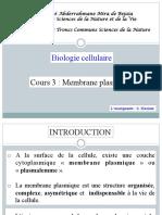 Membrane Plasmique