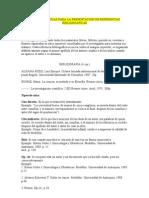 NORMAS TECNICAS PARA LA PRESENTACIÓN DE REFERENCIAS BIBLIOGRAFICAS