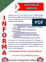 Bolsas de Empleo. Grupo b y c Sanitario...