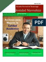 Boletín Identidad Normalista No. 8 (Edición especial)