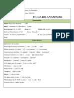 Ficha de Anaminese