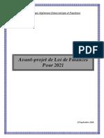 Avant Projet Loi de Finances 2021
