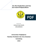 Manual On The Production and Use Of Live Food Of Aquaculture