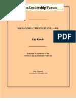 Managing Metropolitan Lagos