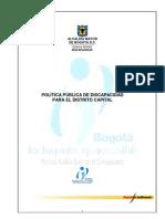 POLITICA PUBLICA DE DISCAPACIDAD