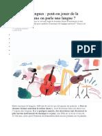 Musique et langues