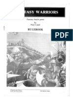 Fantasy Warriors - Rulebook - EnG