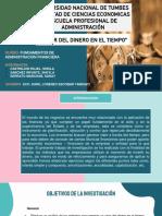 GRUPO N° 1 - DIAPOSITIVAS DEL VALOR DEL DINERO EN EL TIEMPO