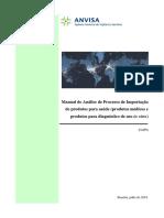 Manual de Análise de Processo de Importação de Produtos para a Saúde