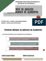 TECNICAS RAPIDAS DE ANALISIS