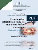 Hypertension Artérielle Au Cours de La Maladie Rénale Chronique